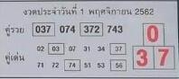 หวยคู่รวย คู่เด่น 1/11/62